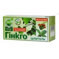 """Чай """"Гінкго Цілитель"""" ТМ """"Чиста флора"""" (20 пакетів)"""